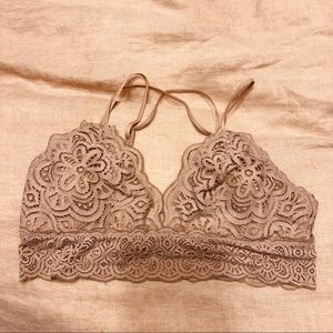 Write bralette mauve/oatmeal color